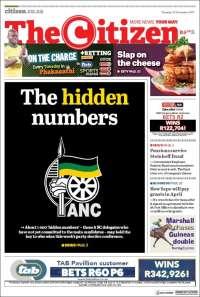 Portada de The Citizen (Afrique du Sud)