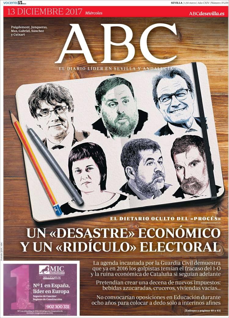 Portada de ABC - Sevilla (España)