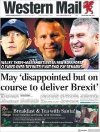 Portada de Western Mail (United Kingdom)