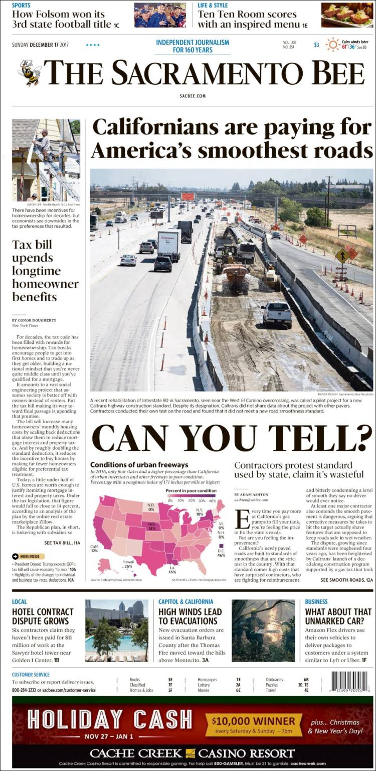 Newspaper The Sacramento Bee (USA)  Newspapers in USA  Sunday's