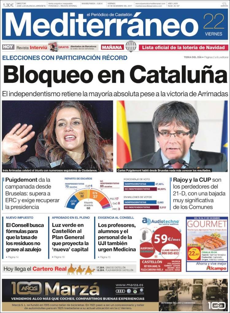 Peri dico el peri dico mediterraneo espa a peri dicos de espa a toda la prensa de hoy - Puerta de madrid periodico ...