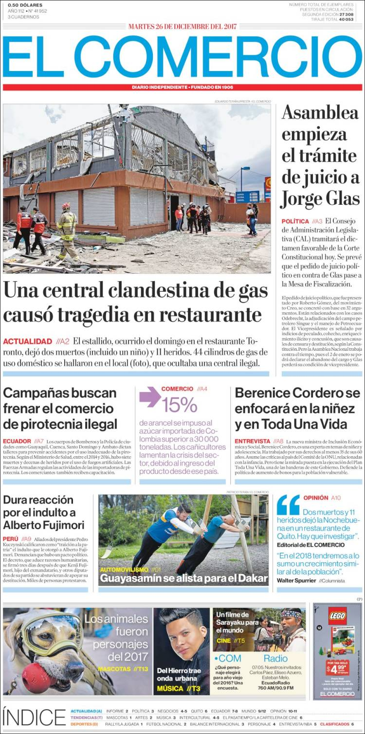 In Arte Nino 2016 newspaper el comercio (ecuador). newspapers in ecuador